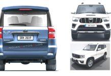 2020 Mahindra Scorpio rear rendering