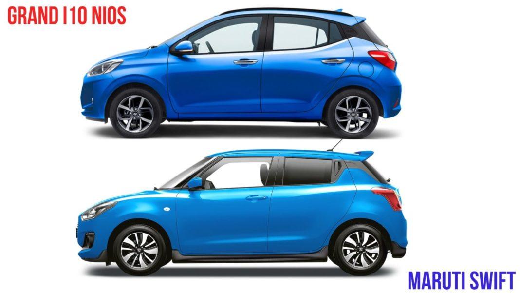 Hyundai Grand I10 Nios Vs Maruti Suzuki Swift Price Specs