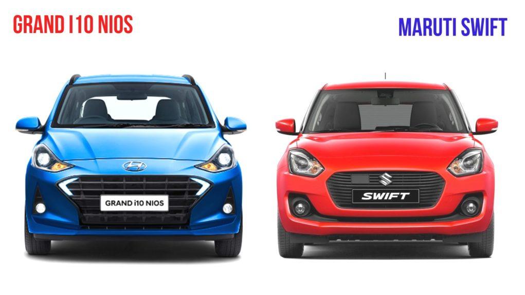 Hyundai Grand i10 Nios vs Maruti Suzuki Swift Comparison2