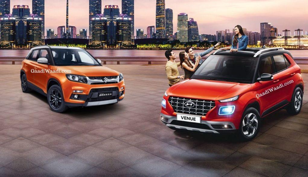 Hyundai Venue vs Maruti Brezza
