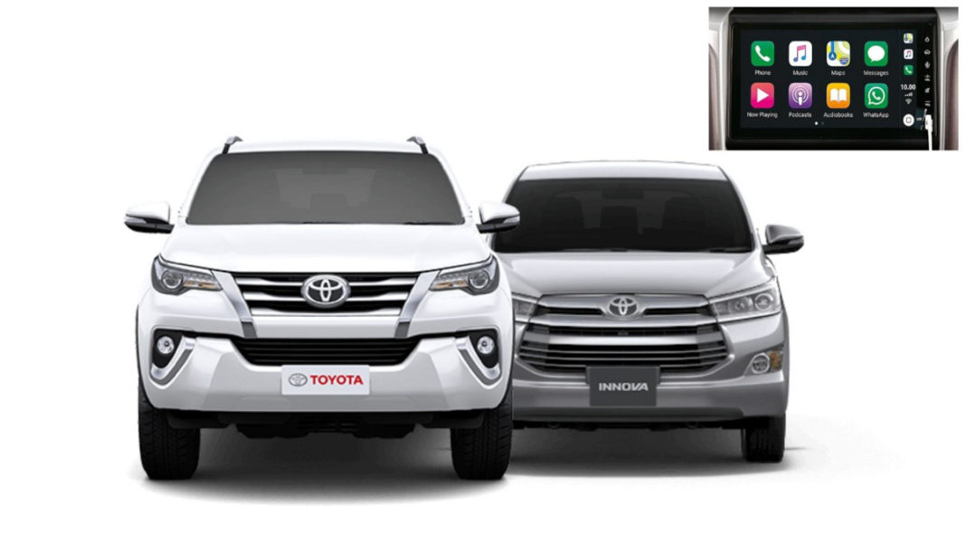 Toyota Innova Crysta & Fortuner Get New 9-inch Touchscreen Infotainment System