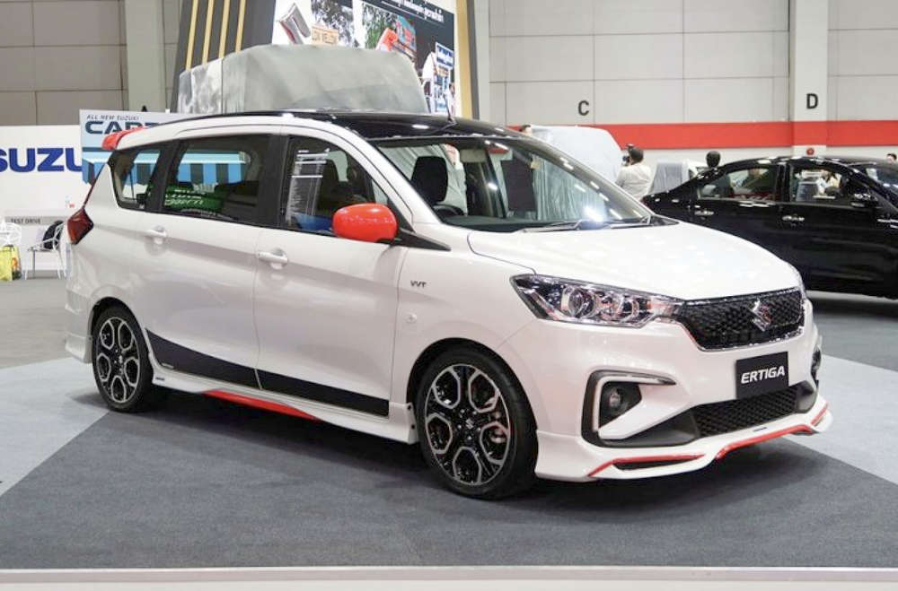 ertiga with swift sports alloywheels