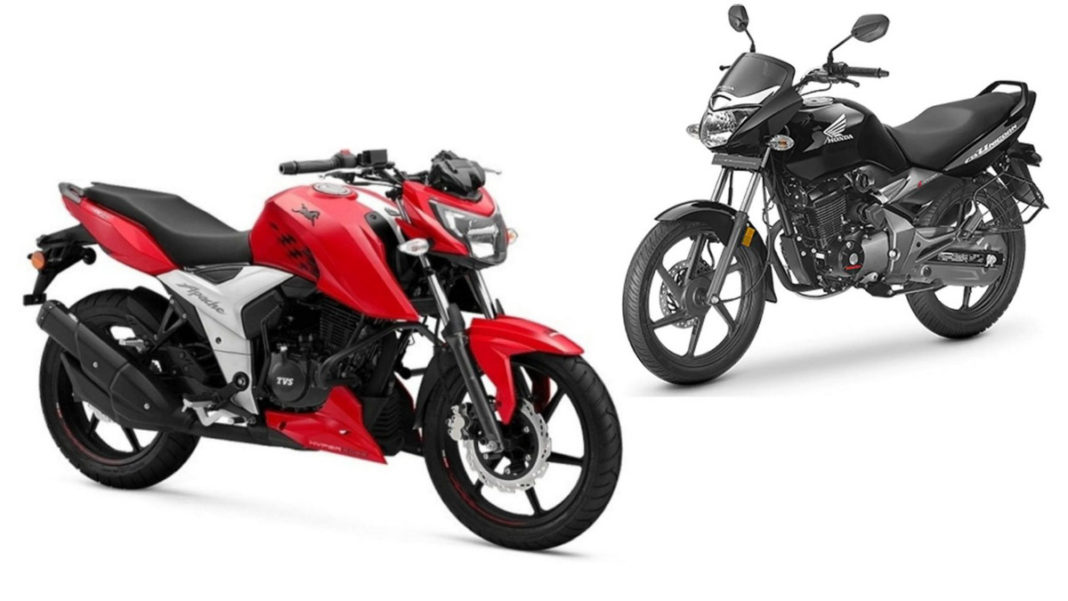 honda unicorn beats TVS apache in july 2019 sales