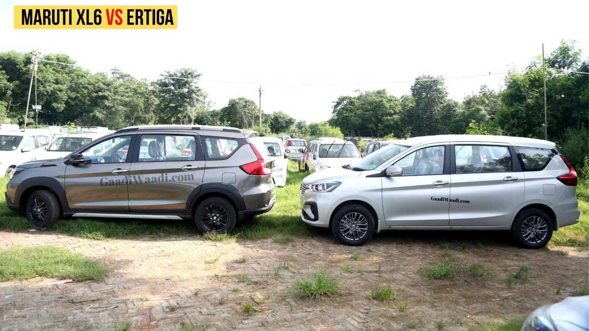 Exclusive Video Comparison  Maruti Suzuki Ertiga Vs Xl6 Mpv