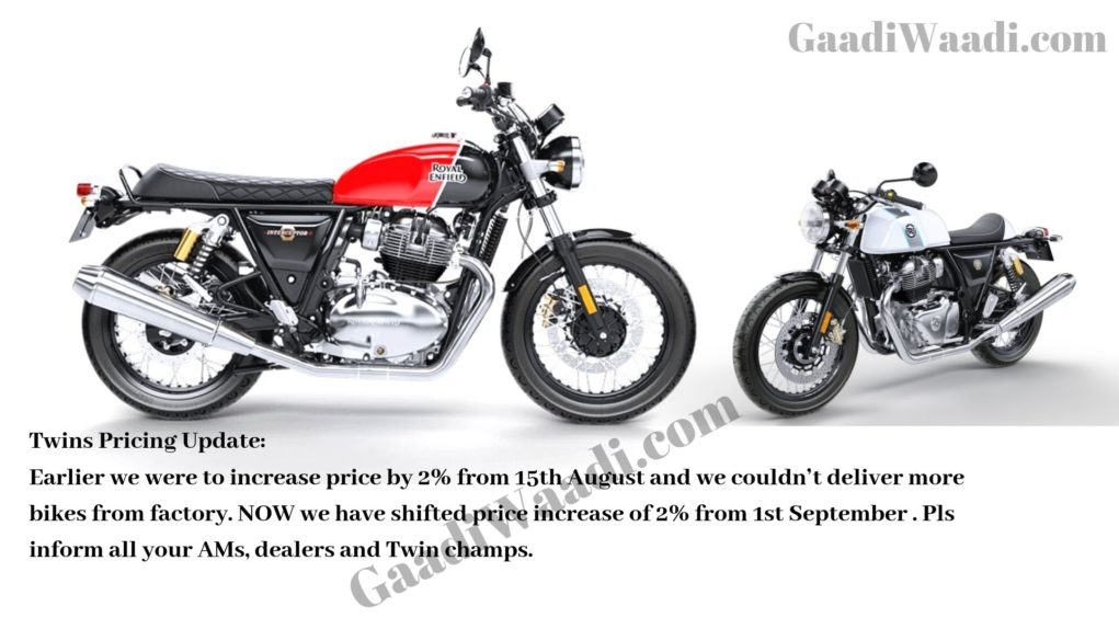 re 650 twins new price