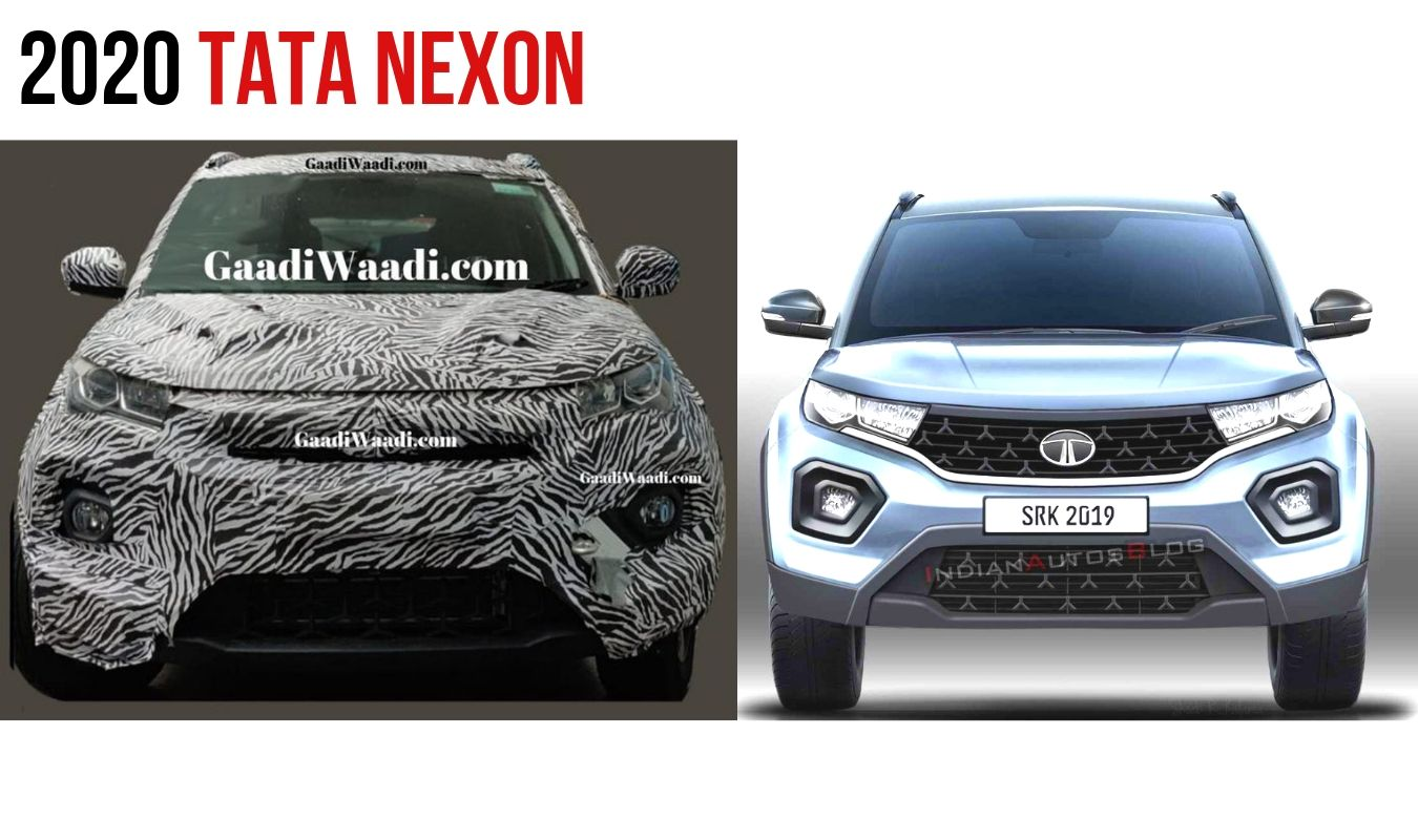 Upcoming 2020 Tata Nexon Facelift Rendered Based On Spyshot