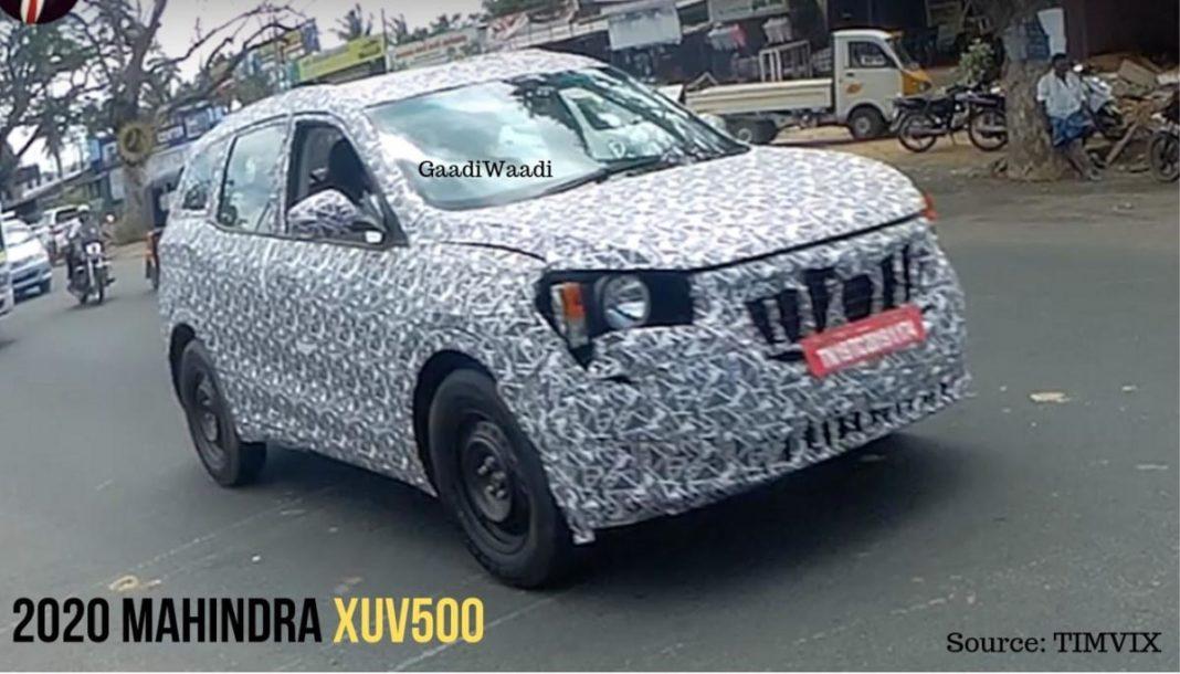 2020 Mahindra XUV500 Spied