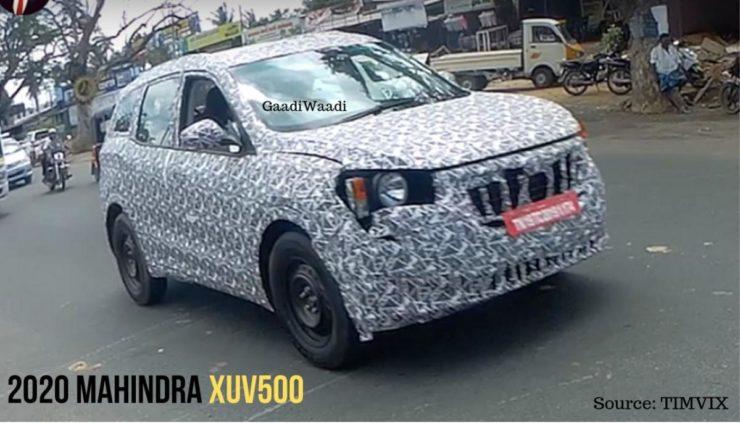 Mahindra XUV500 2020 espionné