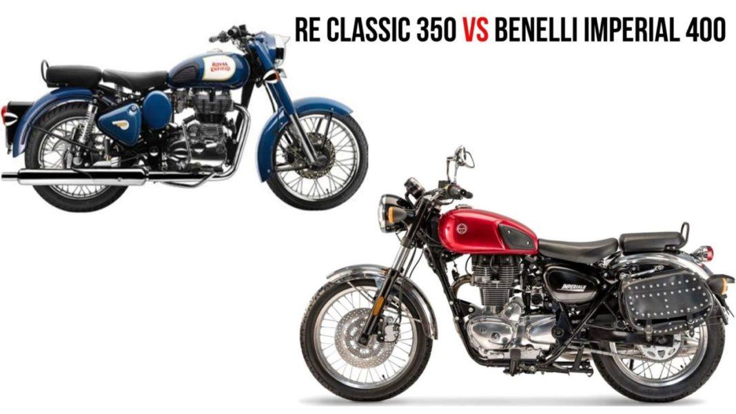 Benelli Imperiale 400 VS Royal Enfield Classic 350 - Specs Comparison