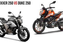 Gixxer 250 vs Duke 250