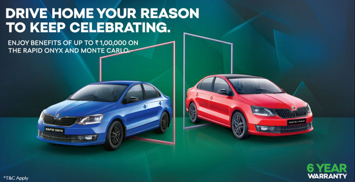 Skoda Rapid Onyx And Monte Carlo Discount