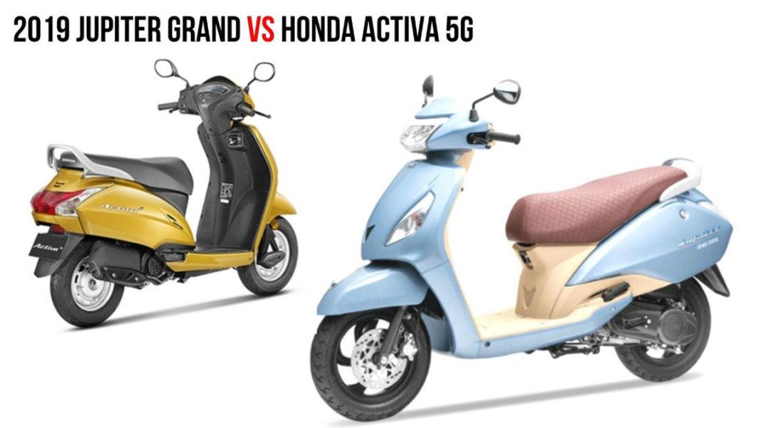 TVS Jupiter Grande Edition VS Honda Activa 5G 1