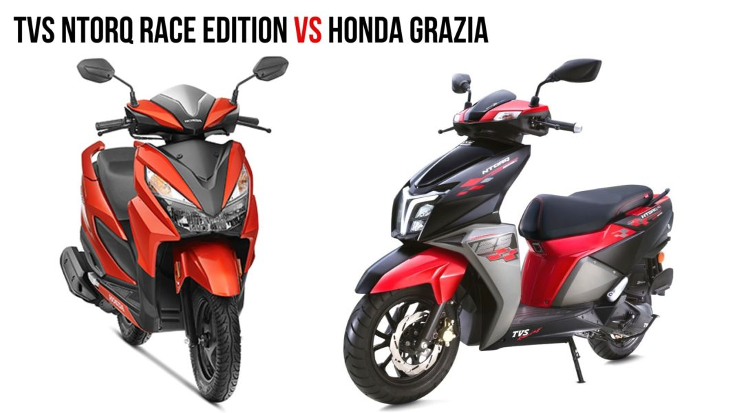 TVS Ntorq Race Edition VS Honda Grazia