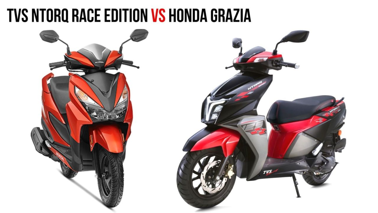 TVS Ntorq Race Edition VS Honda Grazia