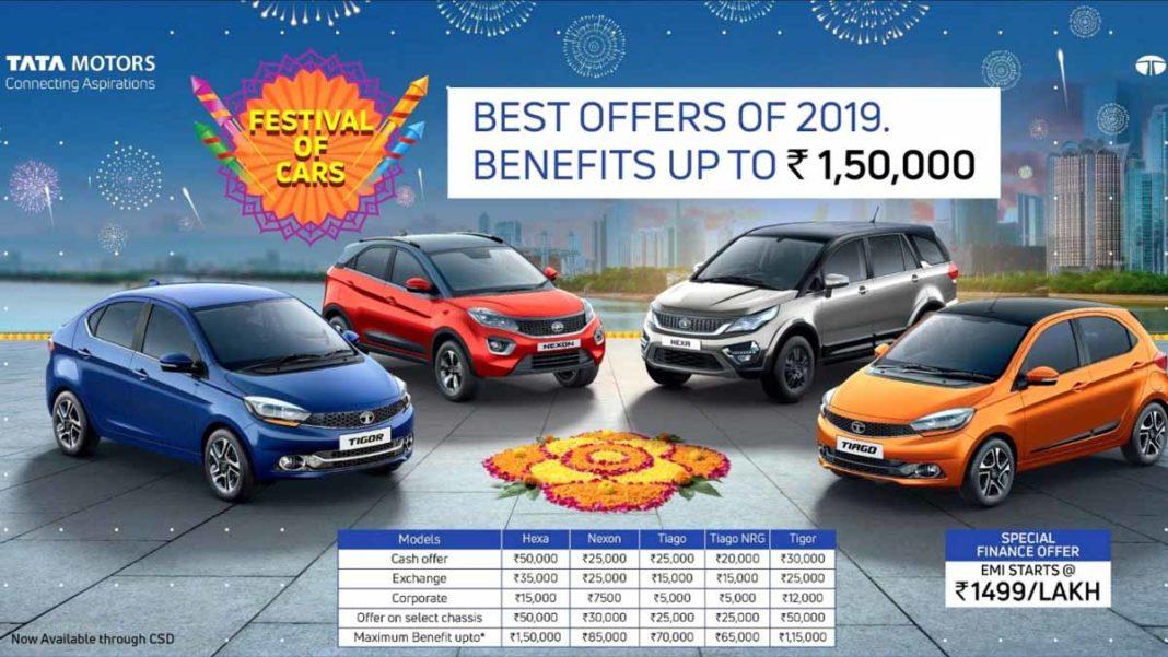 Tata Officially Announces Discounts Upto 1.5 Lakh - Hexa, Tiago, Tigor, Nexon