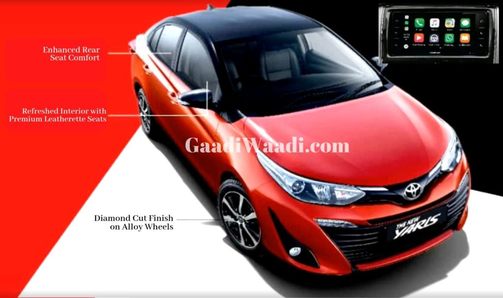 Toyota Yaris Facelift With Dual Tone Colour Launch Soon, Pics Leaked 1