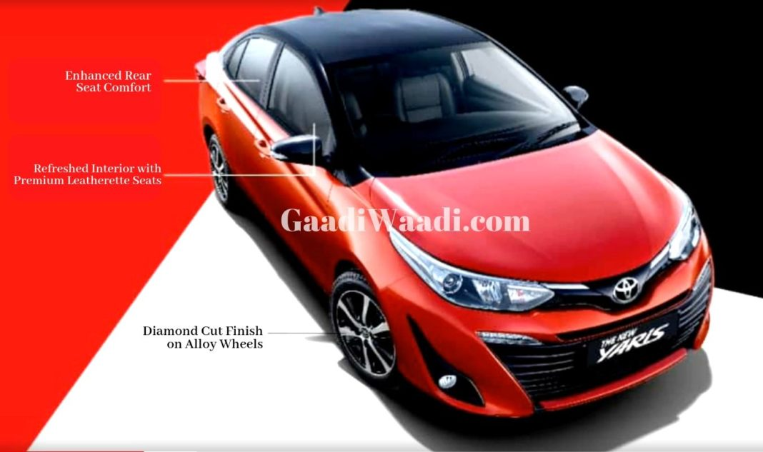 Toyota Yaris Facelift With Dual Tone Colour Launch Soon, Pics Leaked 2