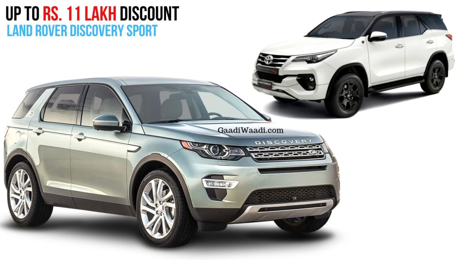 Rs. 11 Lakh Discount On Land Rover Discovery Sport, Cheaper Than Toyota Fortuner - GaadiWaadi.com thumbnail