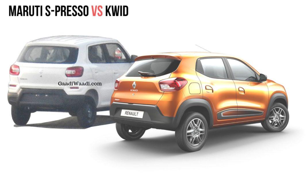 Upcoming Maruti Suzuki S-Presso vs Renault Kwid - Specs Comparison