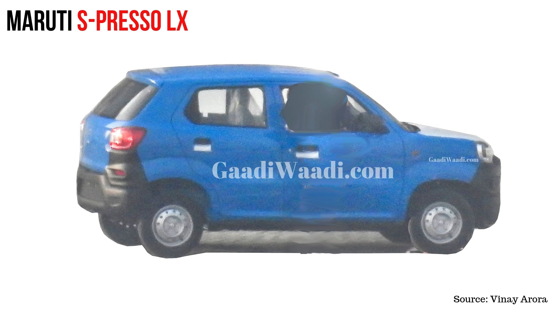Upcoming Maruti S-presso LX (Base Variant) Spied Undisguised - GaadiWaadi.com thumbnail
