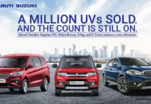 maruti suzuki one million uv sales_
