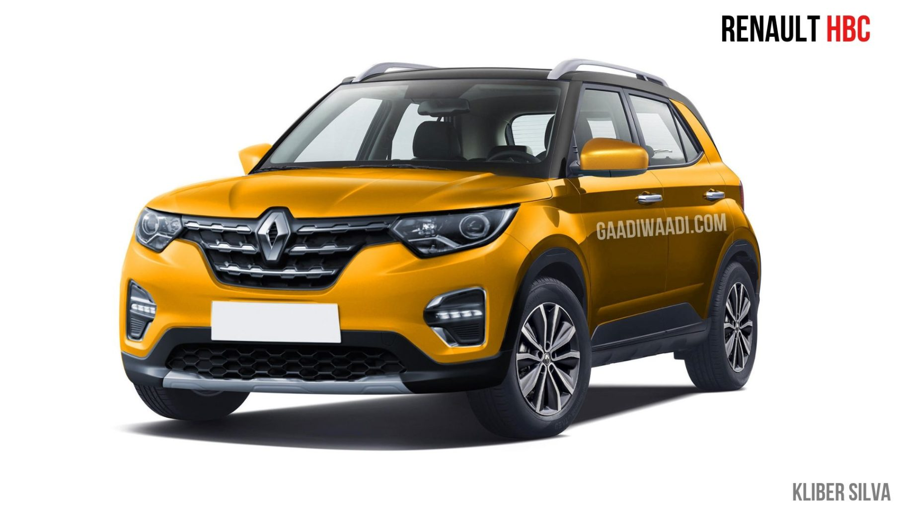 Renault HBC (Kwid/Triber Based SUV) Rendered; Launch Next Year