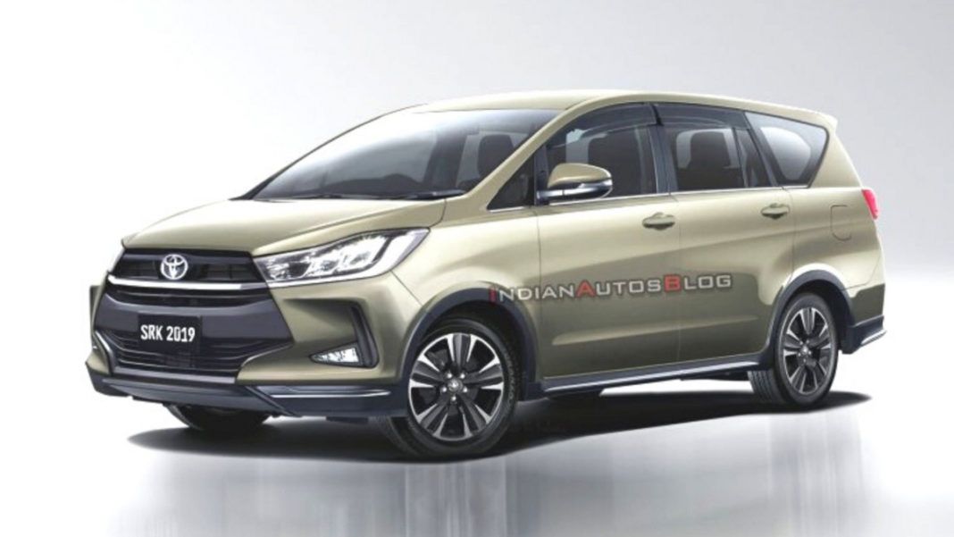 2020 toyota innova crysta facelift rendered with stylish