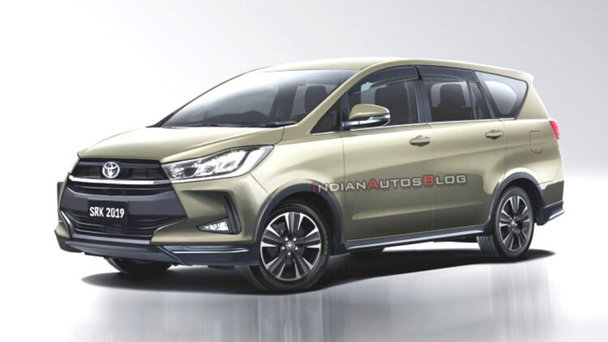 2020 toyota innova crysta facelift rendered with stylish exterior