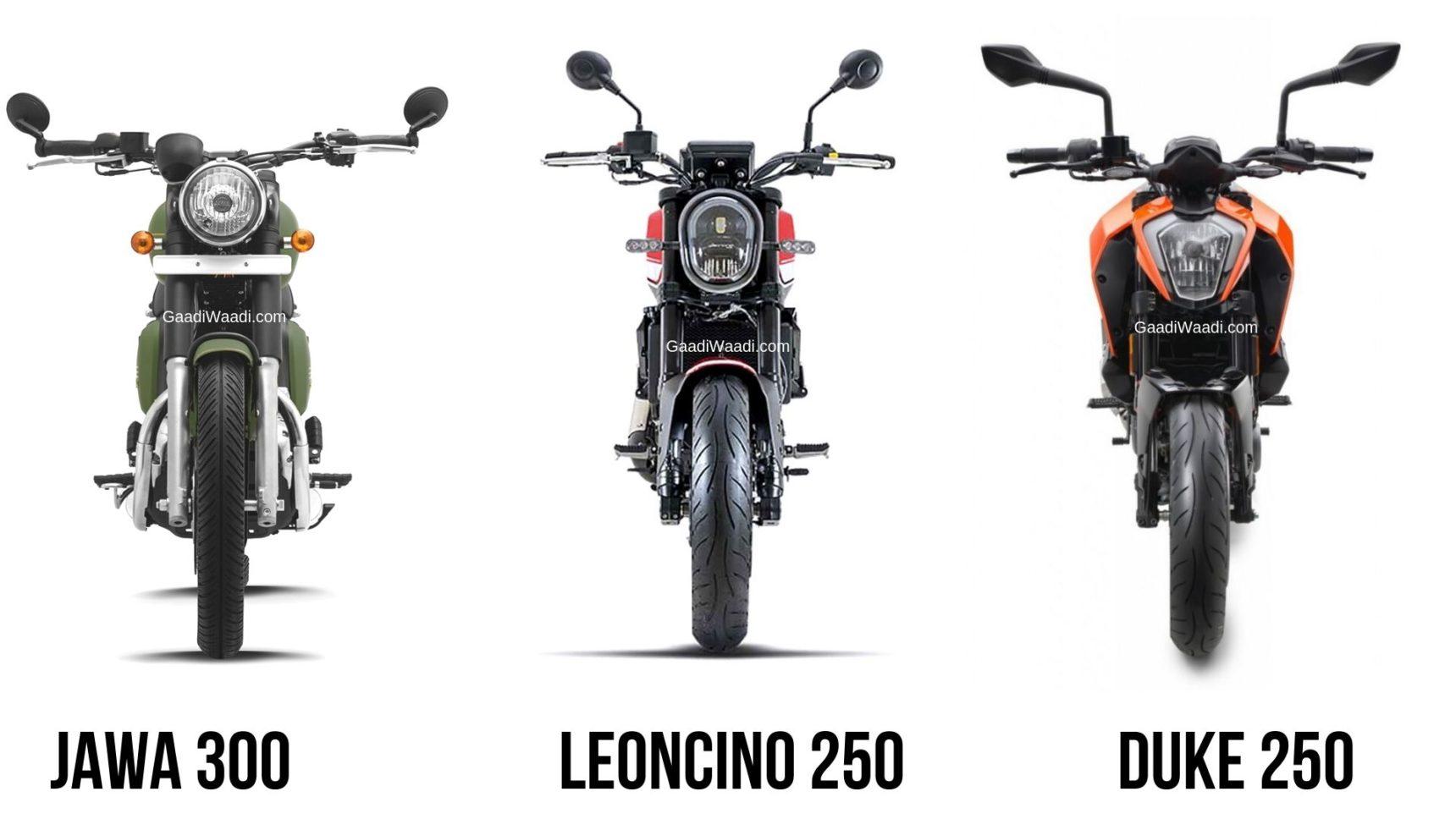 Benelli Leoncino 250 Vs Jawa 300 Vs KTM 250 Duke 2