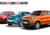 Maruti S-Presso vs Kwid Facelift vs Hyundai Santro