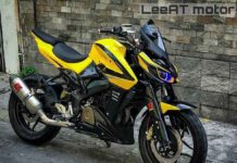 Modified bajaj pulsar NS 200-7