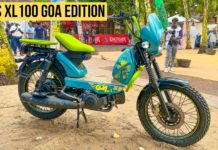 TVS XL100 Goa Edition