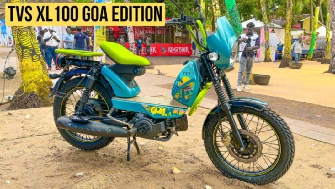 TVS XL100 Goa Edition