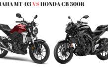 Yamaha MT-03 VS HONDA CB 300R