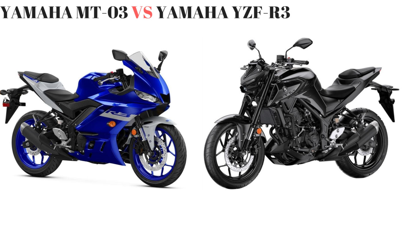 Yamaha MT-03 VS Yamaha YZF-R3 (1)