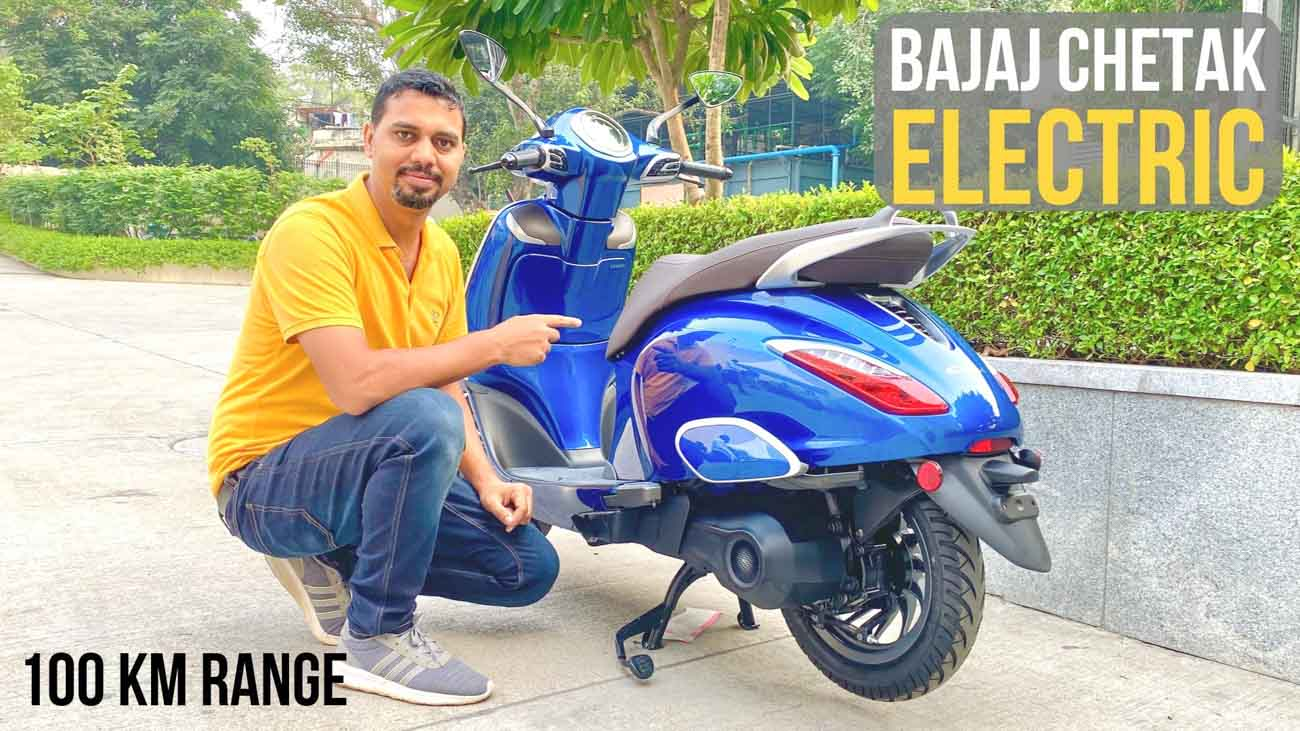 All-New 2020 Bajaj Chetak Electric Scooter Explained In Hindi - Video - GaadiWaadi.com thumbnail