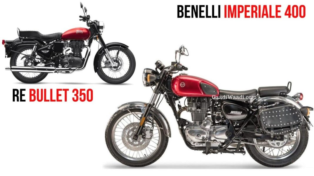 benelli imperiale 400 vs royal enfield bullet 350