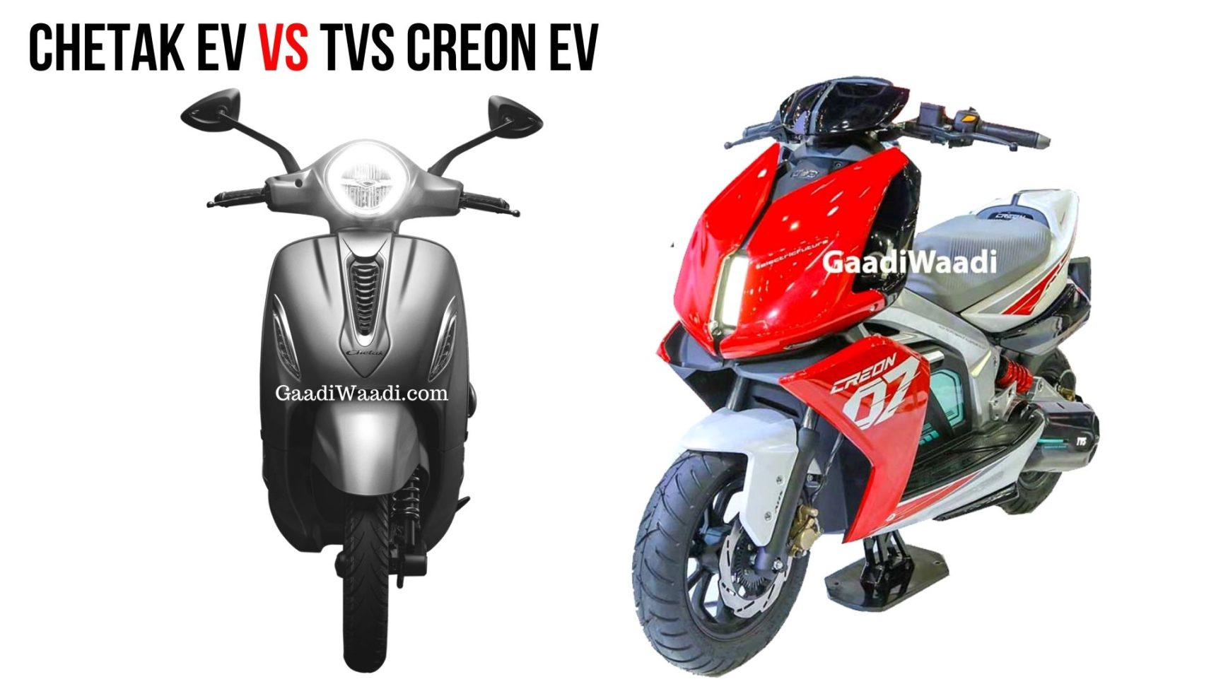 chetak electric vs creon electric front