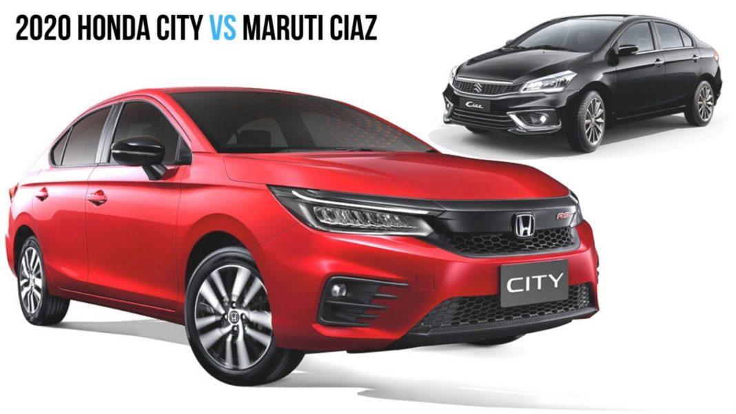 2020 Honda City vs Maruti Suzuki Ciaz