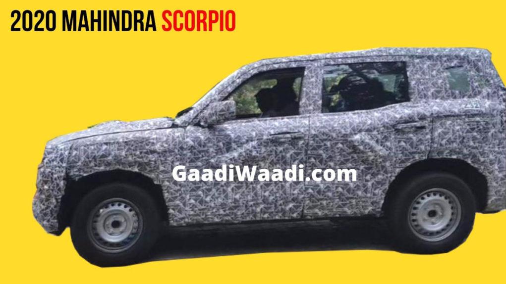 2020 Mahindra Scorpio Spied