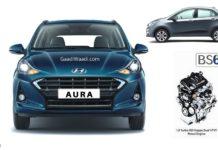 Hyundai Aura bs6 diesel