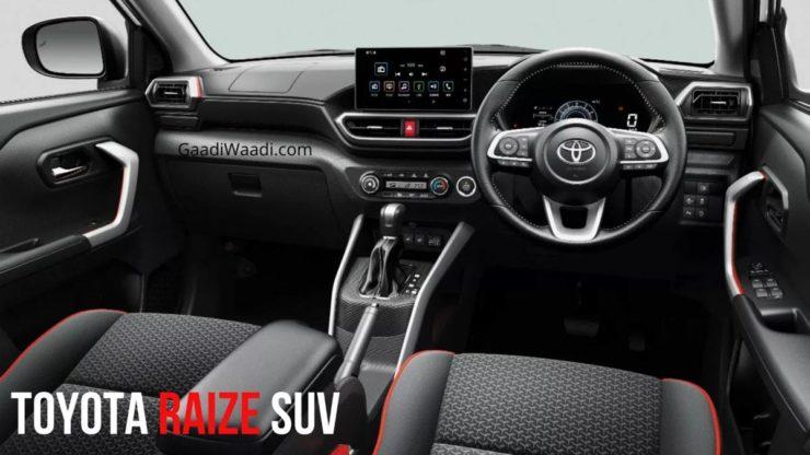 India-Bound Toyota Raize Interior 1