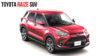 India-Bound Toyota Raize Red