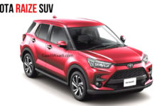 India-Bound Toyota Raize Red