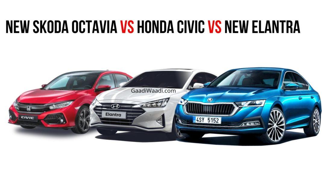 New Skoda Octavia Vs Honda Civic Vs New Elantra