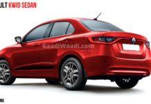 Renault Kwid Based Compact Sedan Rendered, Launch Expected