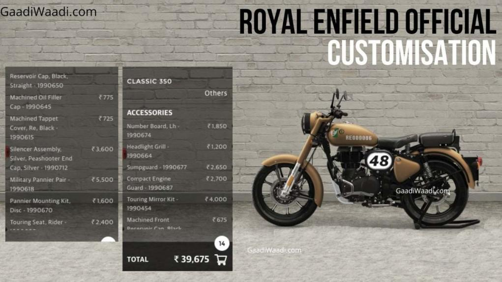Royal Enfield Classic 350 Customisation options