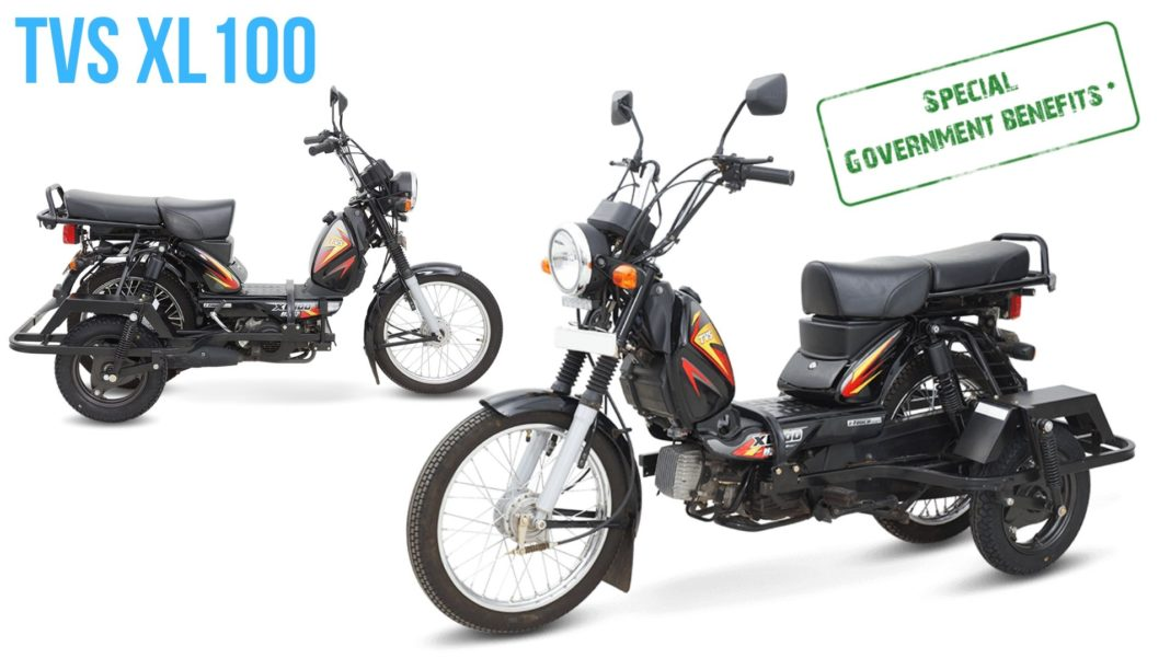 TVS XL 100 retrofitment kit for differently abled 2