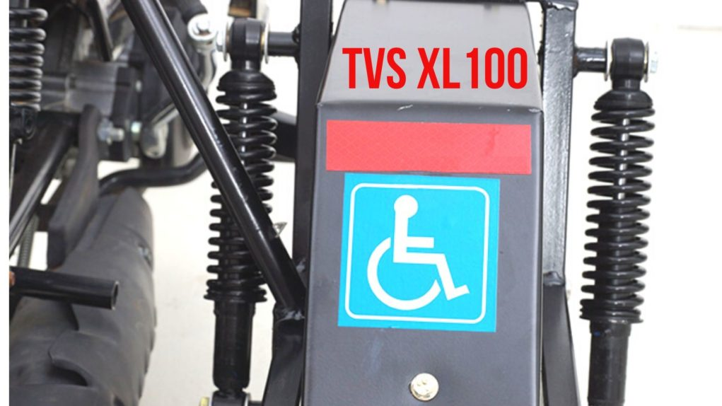 TVS XL 100 retrofitment kit for differently abled 5