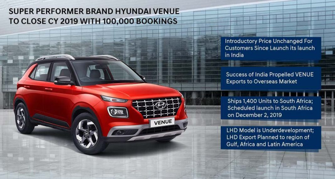 hyundai venue 1 lakh bookings